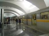 Состав из вагонов 81-720.1/721.1 Яуза на станции метро Зябликово.