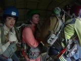МОЙ 1-ый прыжок с ПАРАШЮТОМ! 950 м! Всем смотреть!!!!! :) качество ставьте мах при просмотре